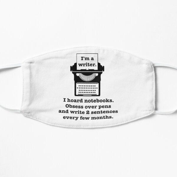 Writer Sticker, Writing, Writers Block, Writer, Writer Gift, Writer Gifts, Write Lover, Gift for Writers, Gifts for Writers, Gift for Writer Mask