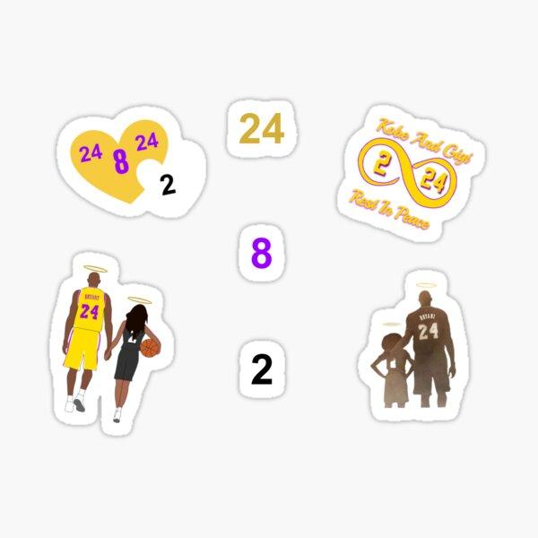Pack d'autocollants Kobe et gigi Sticker