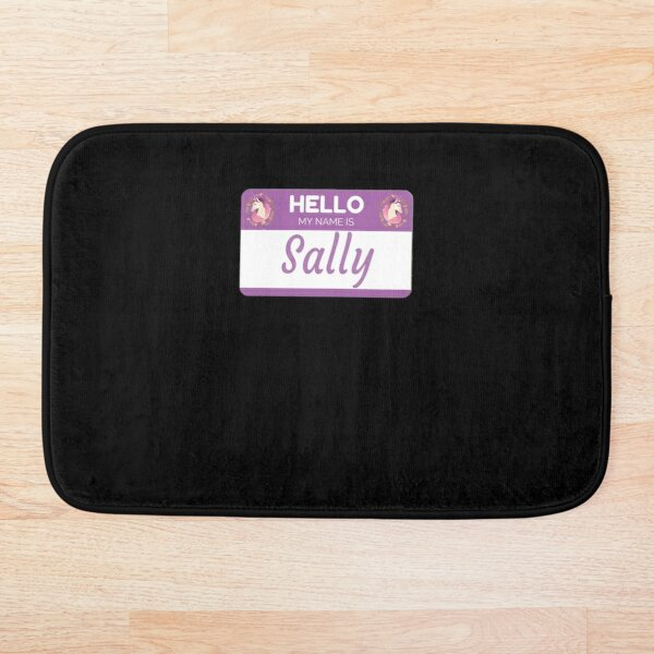Unicorn Hello My Name Is Sally - Gift For Someone Called Sally Bath Mat