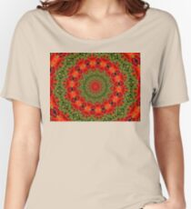 Orange , red and green mandala. Women's Relaxed Fit T-Shirt