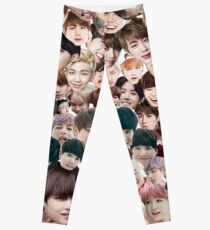 BTS/Bangtan Sonyeondan - Faces Leggings