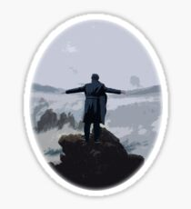Sherlock above the Sea of Fog Sticker