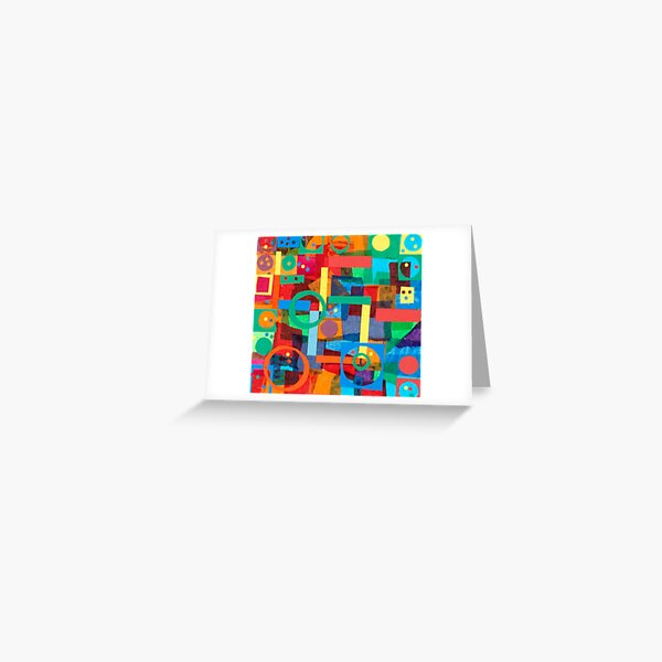 Shapes In Hues In Motion Greeting Card