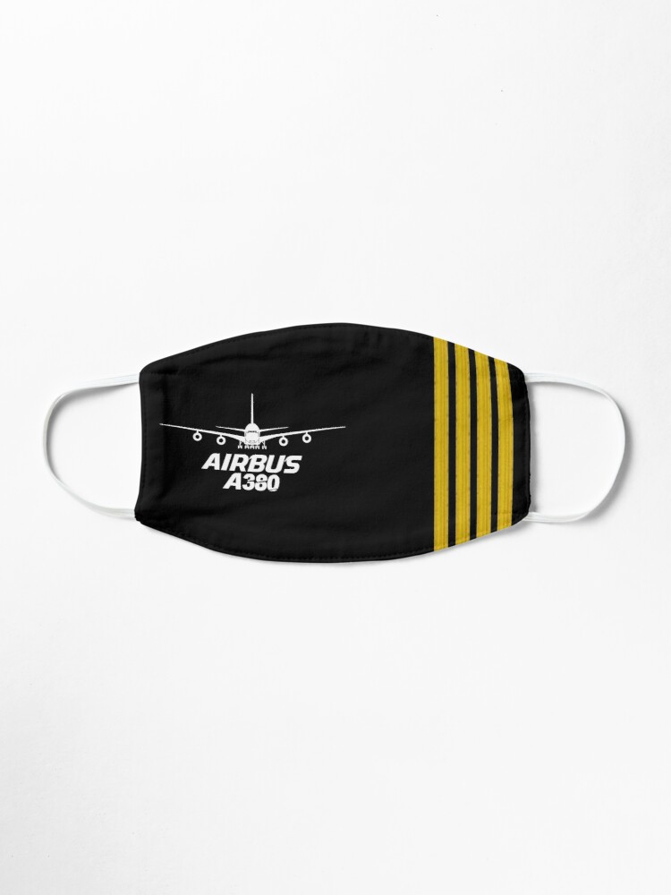 Alternate view of Airbus A380 epaulettes Mask