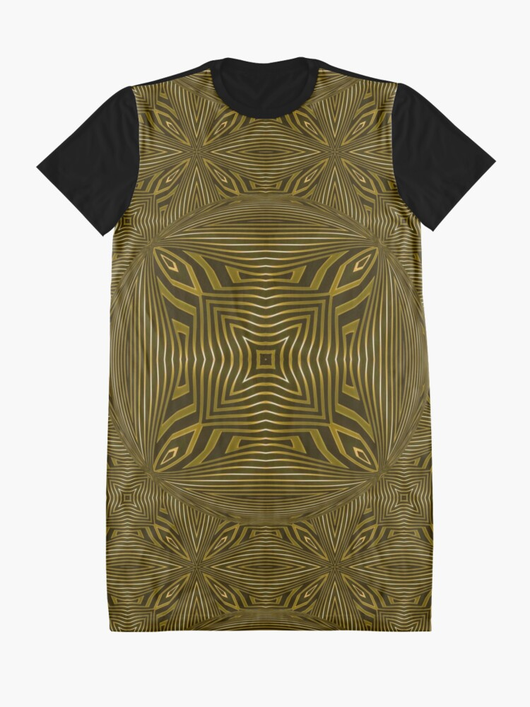 Alternate view of Copperworks Lattice (2) Graphic T-Shirt Dress