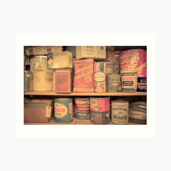 Vintage Food Pantry Art Print