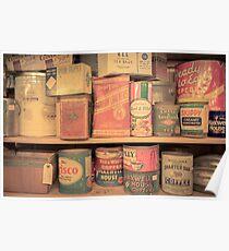 Vintage Food Pantry Poster