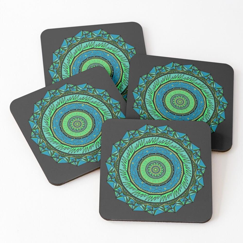 Energy Core Mandala Coasters (Set of 4)