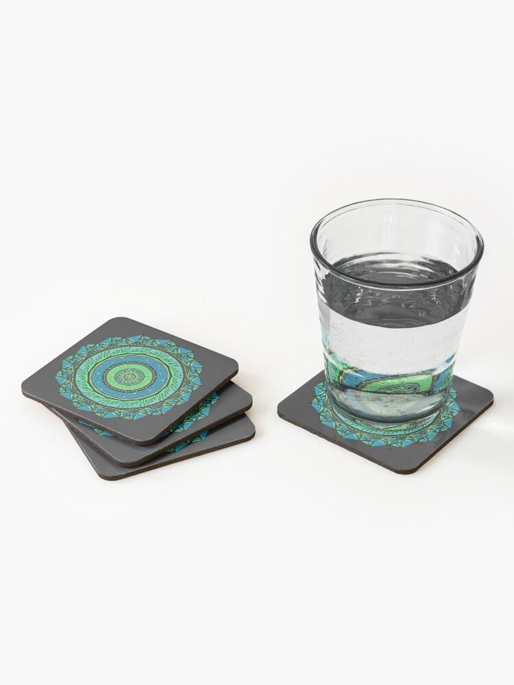 Alternate view of Energy Core Mandala Coasters (Set of 4)