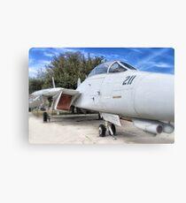 Retired Fighter Jet Canvas Print