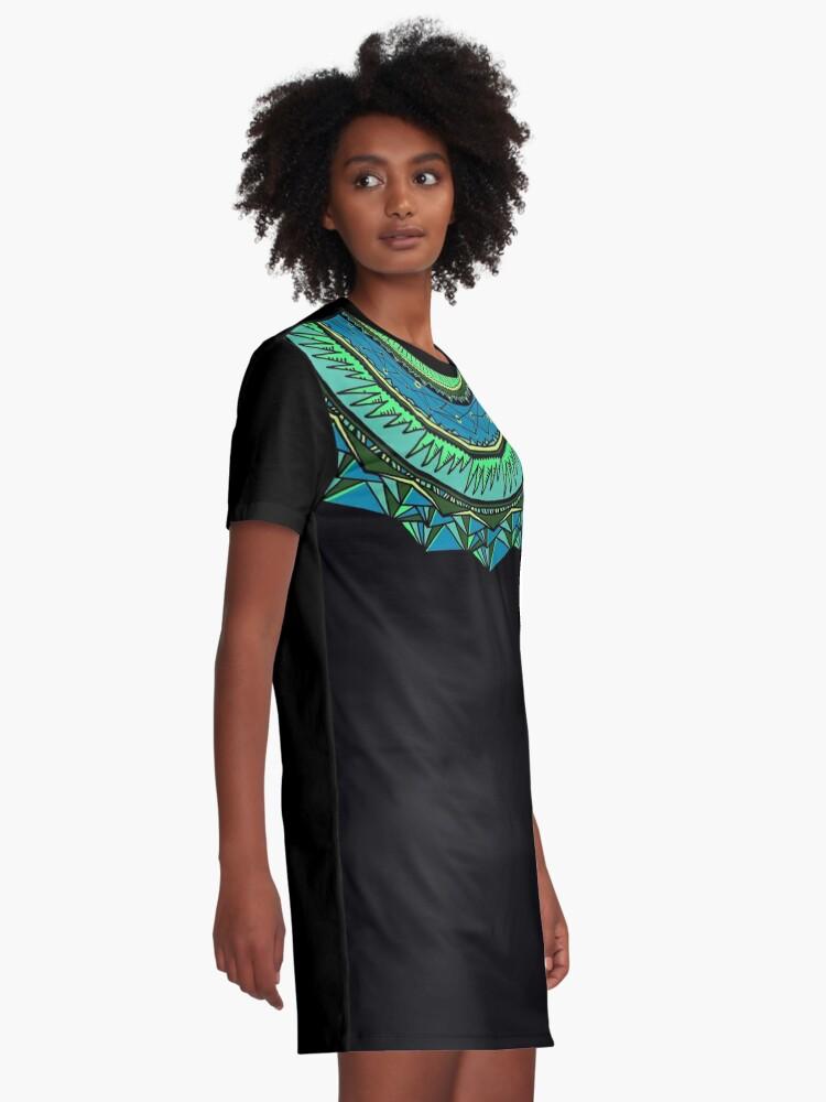 Alternate view of Energy Core Mandala Graphic T-Shirt Dress