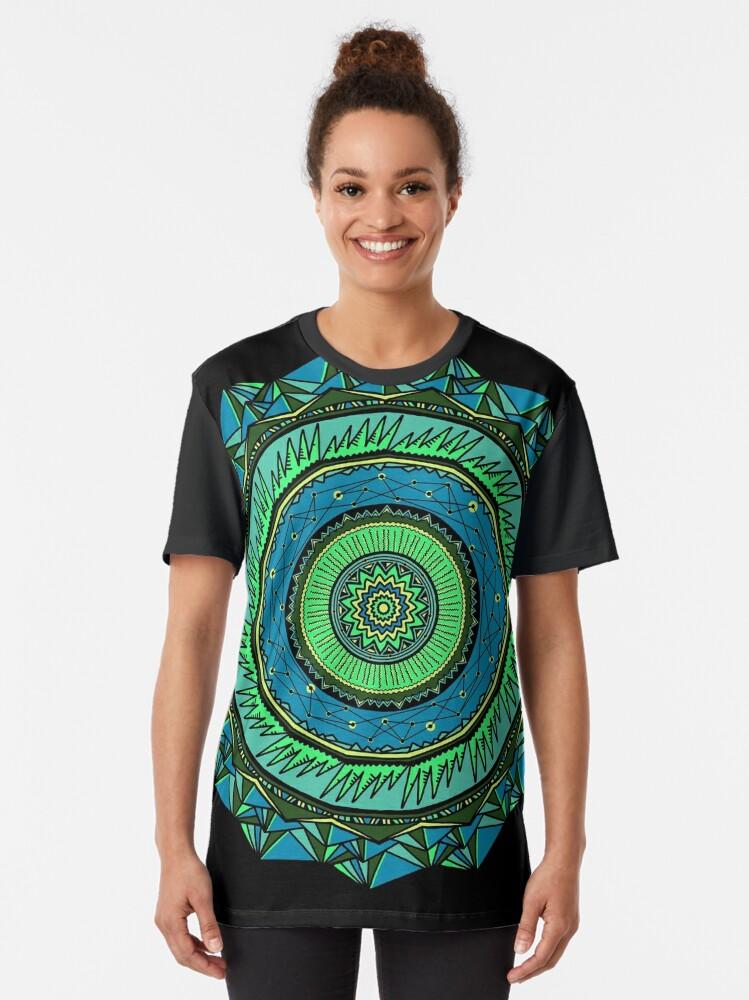 Alternate view of Energy Core Mandala Graphic T-Shirt