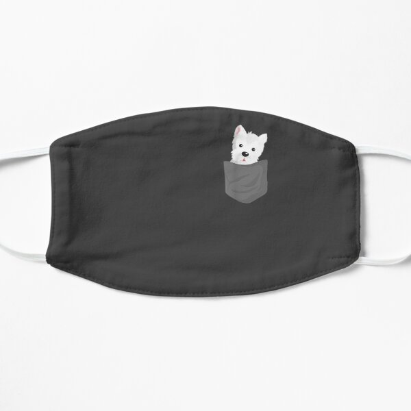 Dog In A Pocket Cute Westie Terrier Lover Puppy  Mask