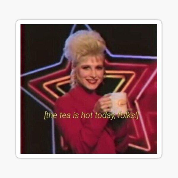 El té está caliente hoy amigos Paramore Hayley Williams pegatina Pegatina