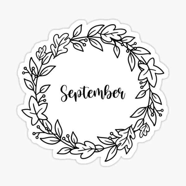 September Monthly cover for Bullet Journal / Bujo Planner Sticker