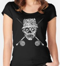 Fishing Zombie Women's Fitted Scoop T-Shirt