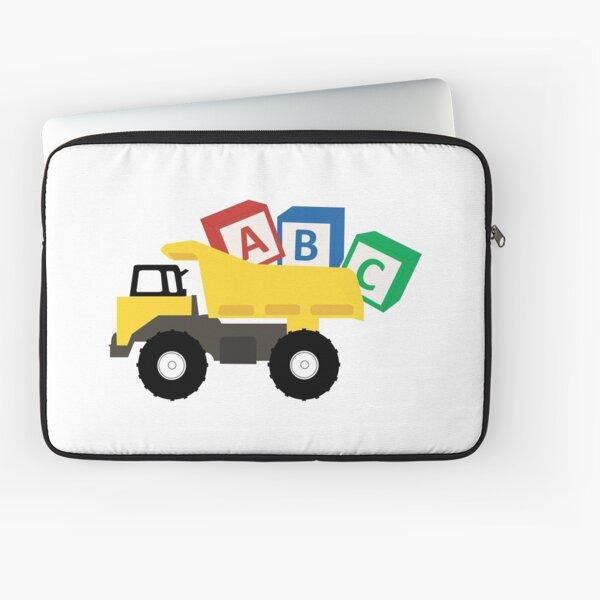 ABC Dump Truck Construction Trucks Laptop Sleeve