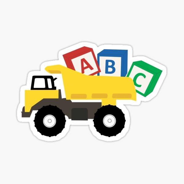 ABC Dump Truck Construction Trucks Sticker