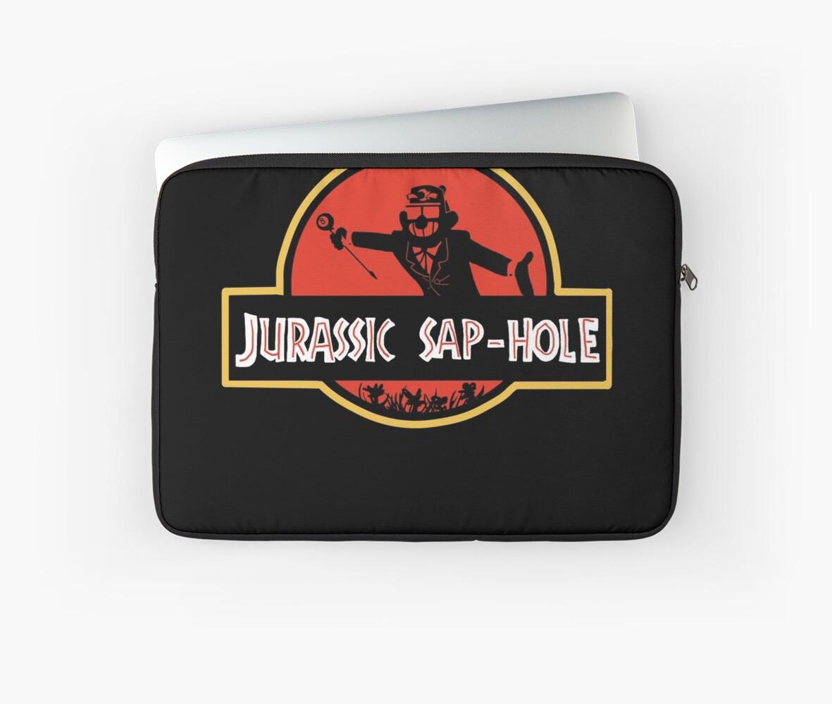 'Jurassic Sap-Hole' Laptop Sleeve by kbeehivep