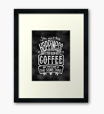 Coffee lover's Poster - Chalkboard Style Framed Print