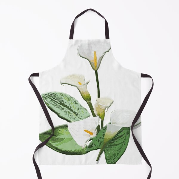Calla-Lilien-Blumen Schürze