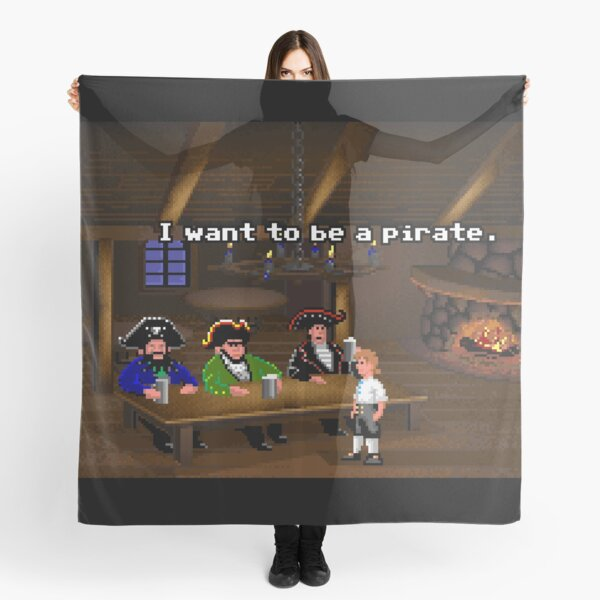 I want to be a pirate! (Monkey Island 2) Scarf