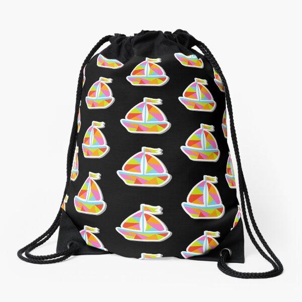 Colorful Mega Yacht Drawstring Bag
