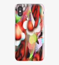 digital flower iPhone Case