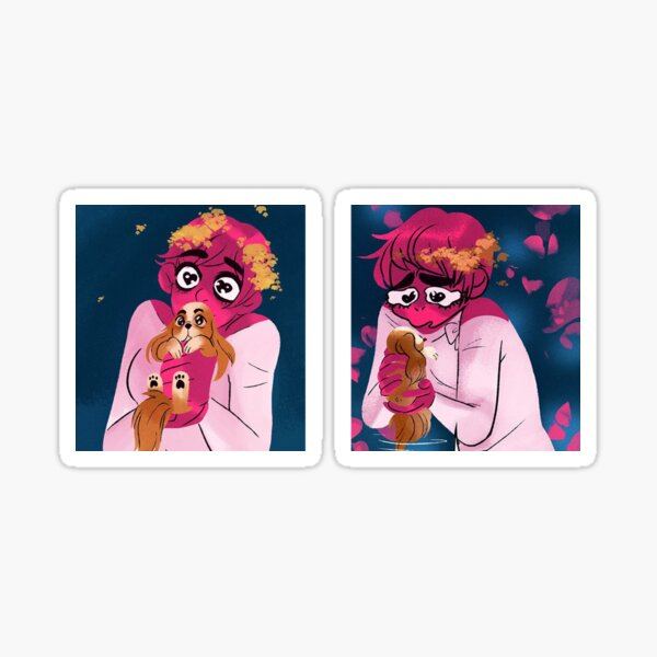 Lore Olympus Duo Puppy Sticker Sticker