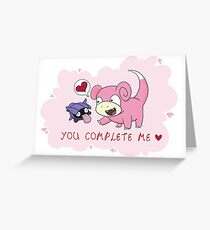 Valentines - Slowpoke and Shellder  Greeting Card