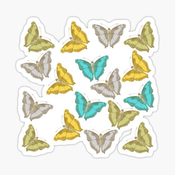 Watercolor Butterflies, Colorful Butterfly, Moth pattern Sticker