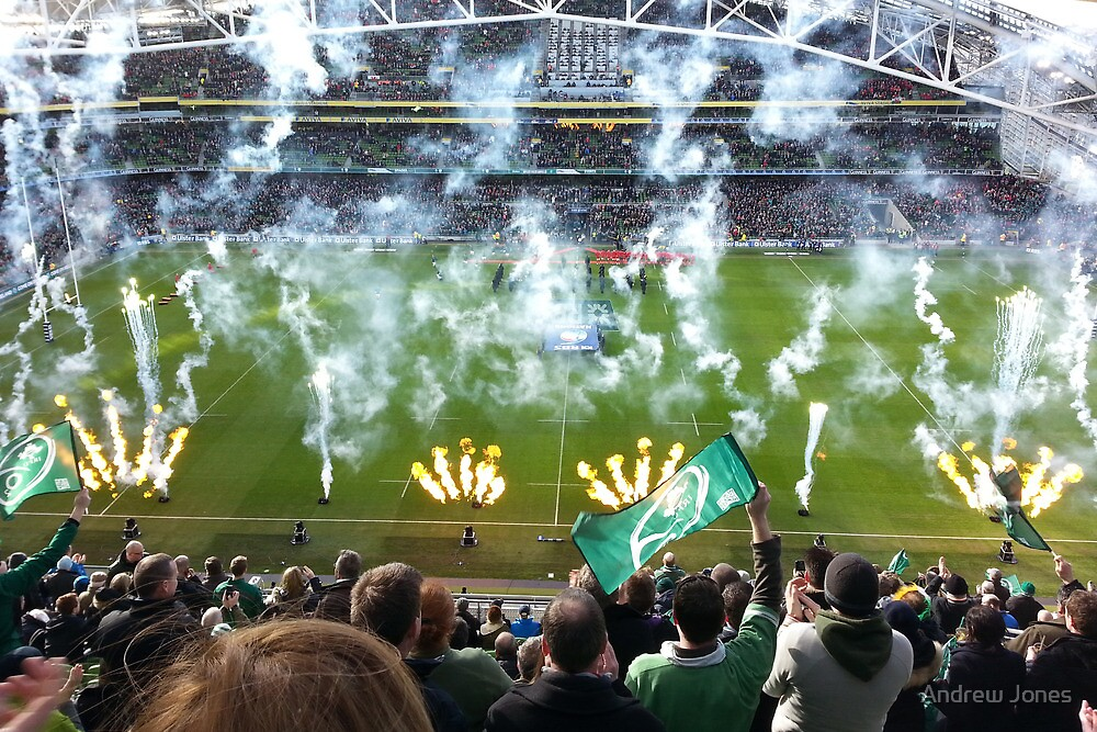 Smoke trails and flares at the Aviva Stadium, Dublin by Andrew Jones