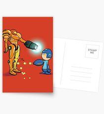Samus Vs Mega Postcards