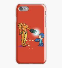 Samus Vs Mega iPhone Case/Skin