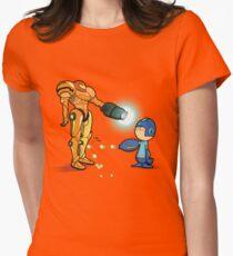 Samus Vs Mega Womens Fitted T-Shirt