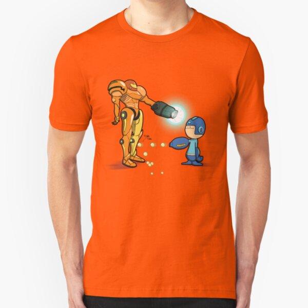 Samus Vs Mega Slim Fit T-Shirt