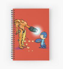 Samus Vs Mega Spiral Notebook