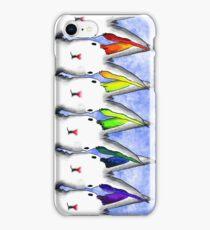 rainbow rabbits iPhone Case/Skin