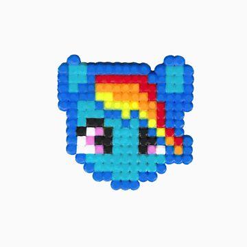 Rainbow Dash 8bit Logo by Dangelus974