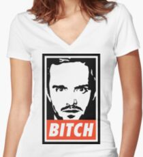 BITCH Women's Fitted V-Neck T-Shirt