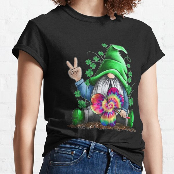 Hippie Gnomes Hippie Clover St Patrick's Day s  Classic T-Shirt