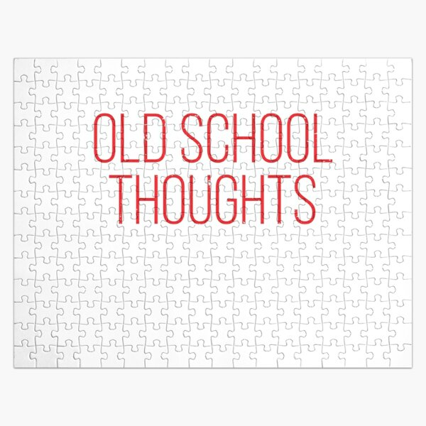 Old School Thoughts Jigsaw Puzzle