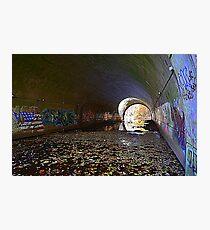 Graffiti in a tunnel Photographic Print
