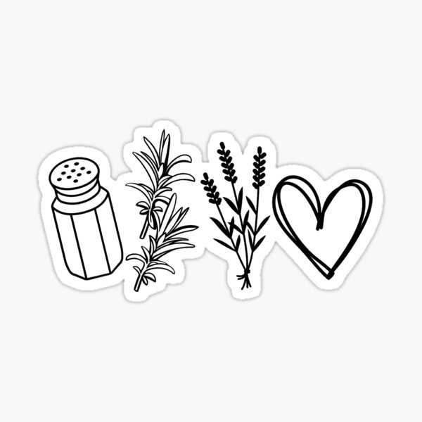 Funny Halloween movie witch practical magic witches salt rosemary lavender love quote  Sticker