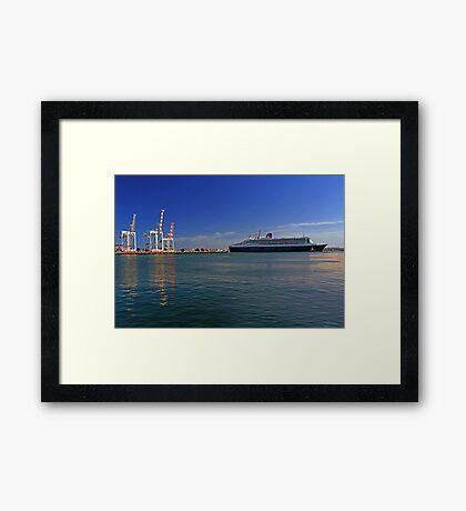 Queen Mary 2 - Fremantle Western Australia  Framed Print