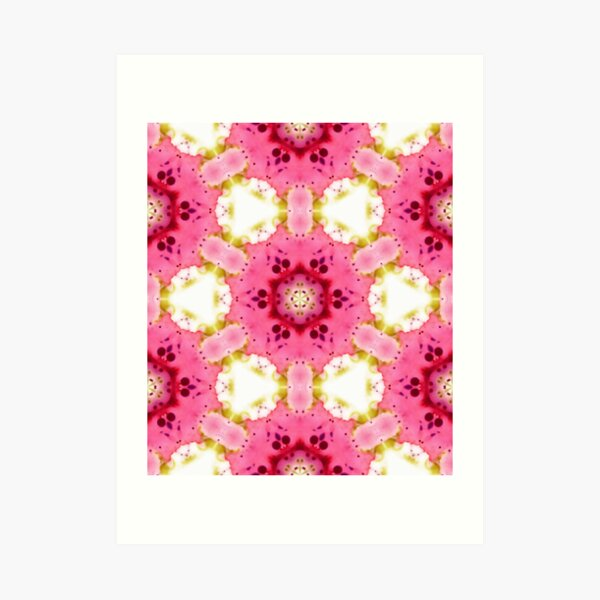 Pink Dessert - Kaledoscopic Pattern Art Print