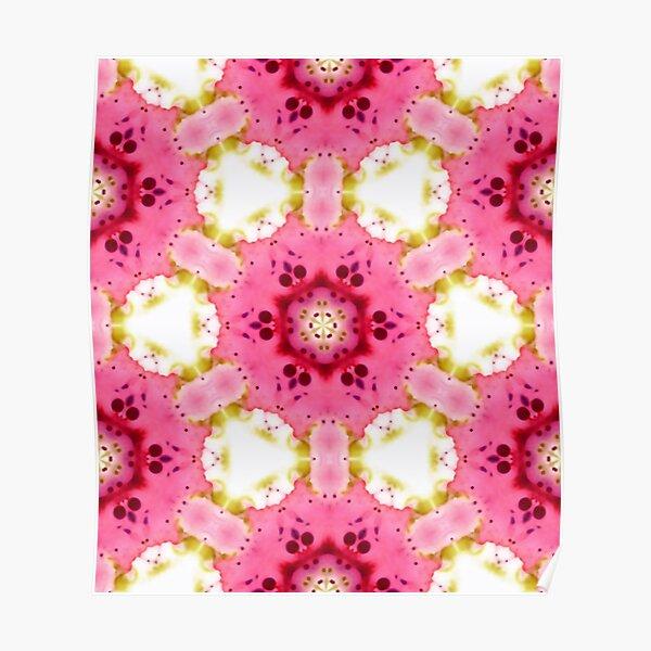 Pink Dessert - Kaleidoscopic Pattern Poster