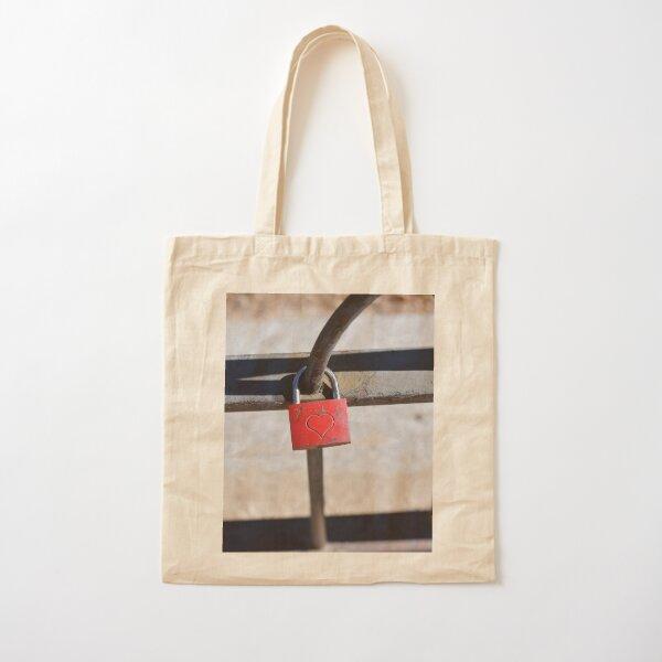 LoveLock Cotton Tote Bag