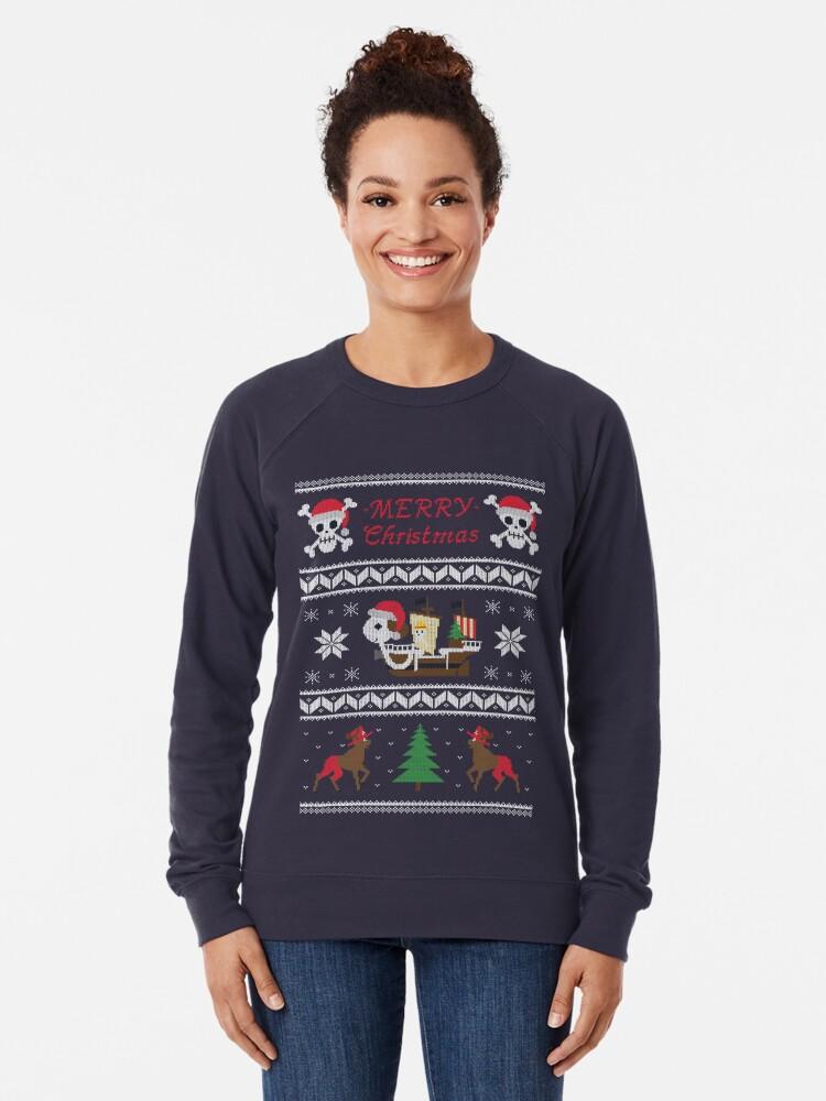 Alternative Ansicht von Fröhlich Weihnachten Leichter Pullover