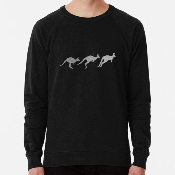 3 Kangaroos - Greyscale Lightweight Sweatshirt